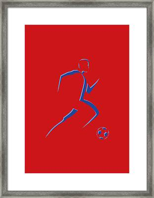 Soccer Player8 Framed Print by Joe Hamilton