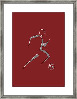 Soccer Player9 Framed Print by Joe Hamilton