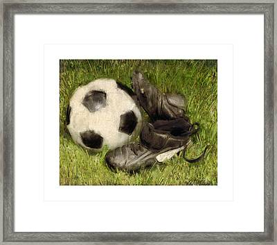 Soccer Practice Framed Print
