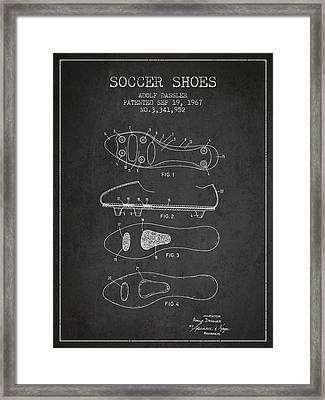 Soccer Shoe Patent From 1967 Framed Print