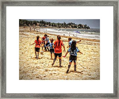 Soccer Tournament Framed Print by The Art of Alice Terrill
