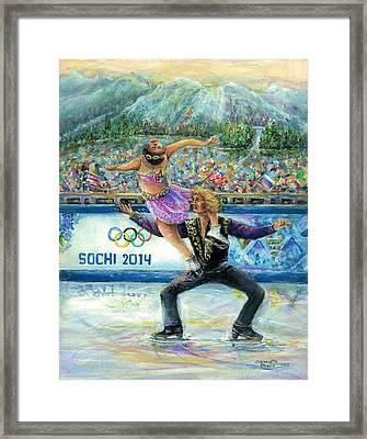 Sochi 2014 - Ice Dancing Framed Print