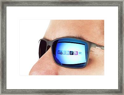 Social Media Framed Print by Daniel Sambraus
