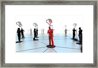 Social Media Dislikes Framed Print by Christian Darkin
