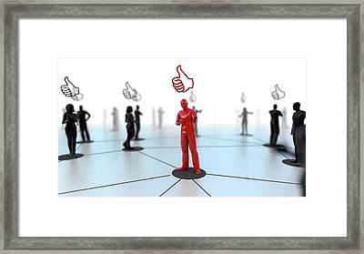 Social Media Likes Framed Print by Christian Darkin