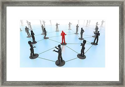Social Media Network Framed Print by Christian Darkin