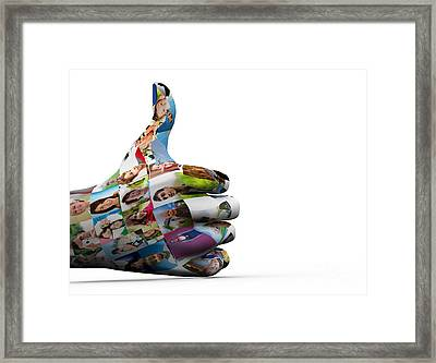 Social Media People Painted Hand In Ok Sign Framed Print