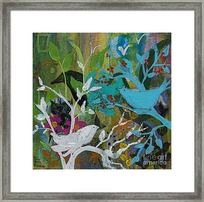 Social Network Framed Print by Robin Maria Pedrero
