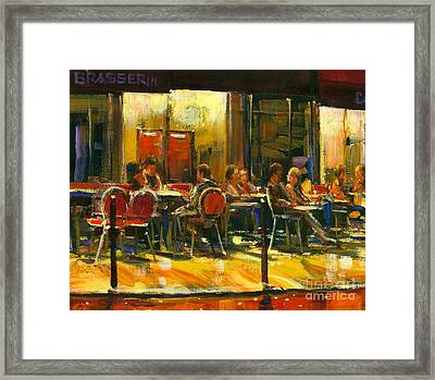 Socializing Framed Print by Michael Swanson