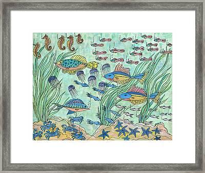 Society Of Fish Framed Print