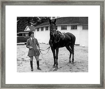 Society Prepares For Fox Hunt Framed Print by Underwood Archives