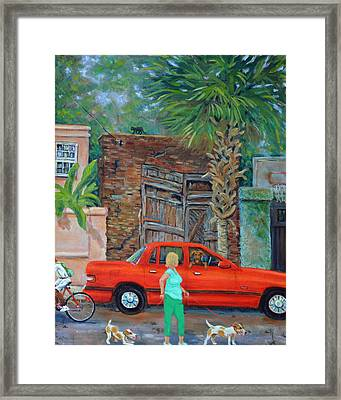 Framed Print featuring the painting Society Street Afternoon by Dwain Ray