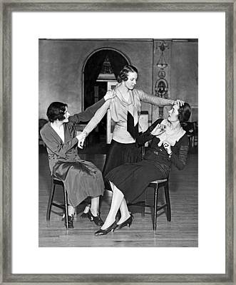 Society Women In Benefit Play Framed Print by Underwood Archives