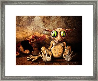 Sock Monster Framed Print