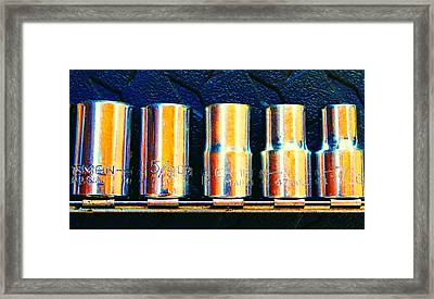Socket Set B Framed Print by Laurie Tsemak