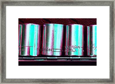 Socket Set C Framed Print by Laurie Tsemak