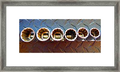 Socket Set E Framed Print by Laurie Tsemak