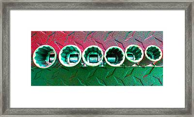 Socket Set F Framed Print by Laurie Tsemak