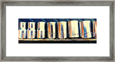 Socket Set Framed Print by Laurie Tsemak