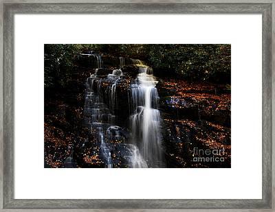 Soco Falls Framed Print by Manda Renee