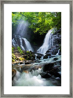 Framed Print featuring the photograph Soco Falls by Serge Skiba