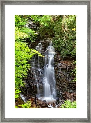 Soco Falls Sumertime Framed Print
