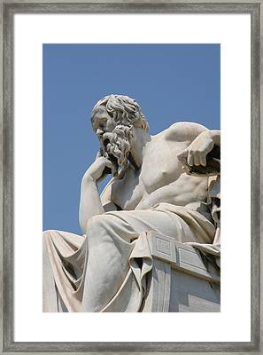 Socrates Framed Print by Bridgeman Images