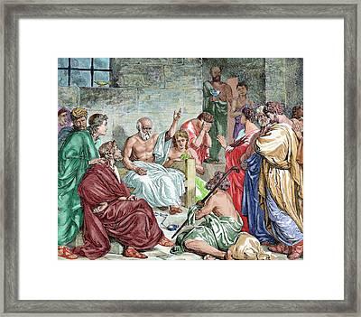 Socrates (c 469-399 Bc Framed Print by Prisma Archivo