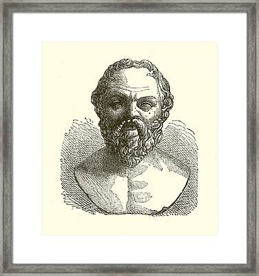 Socrates Framed Print by English School