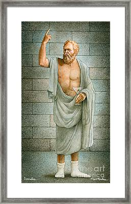 Socrates... Framed Print by Will Bullas
