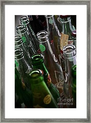 Soda Bottles For Sale  Framed Print