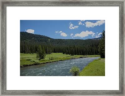 Soda Butte Creek Framed Print