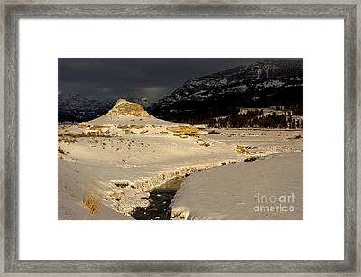 Soda Butte Yellowstone Framed Print by Deby Dixon