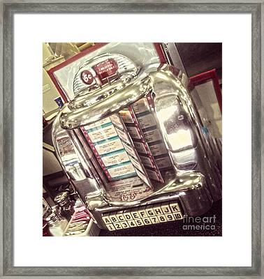 Soda Fountain Juke Box Framed Print