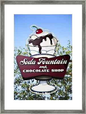 Soda Fountain Framed Print