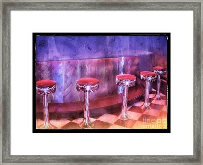 Soda Fountain Stools II Framed Print