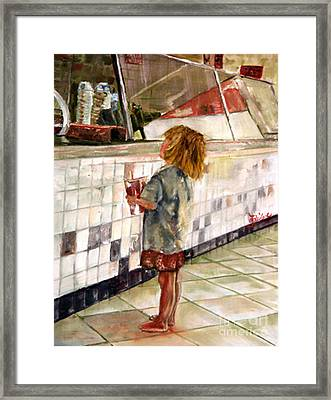 Soda Girl Framed Print by CJ  Rider