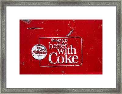 Soda Of Choice Framed Print by Toni Hopper