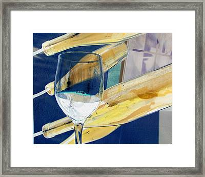 Framed Print featuring the photograph Soda Or Wine Is Fine by Marie Neder