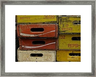 Soda Pop History Framed Print by JW Hanley