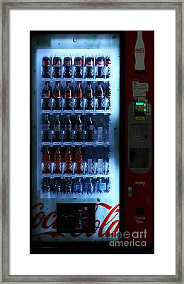 Soda Vending Machine - 5d20672 Framed Print by Wingsdomain Art and Photography