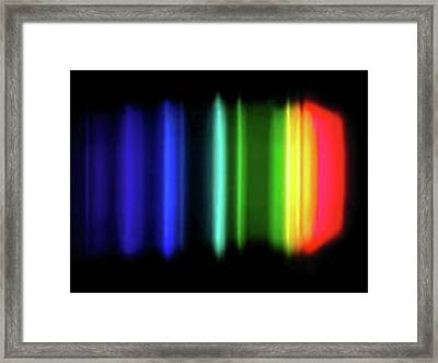 Sodium Emission Spectrum Framed Print by Carlos Clarivan