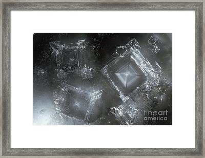 Sodium Hydroxide Crystals Framed Print by Charles D Winters