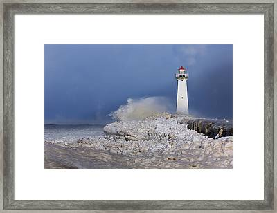 Sodus Bay Lighthouse Framed Print by Everet Regal