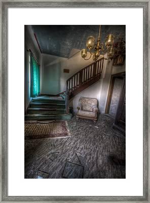 Sofa At The Bottom Framed Print by Nathan Wright