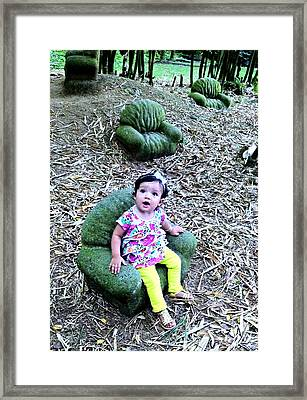 Sofi In The Garden Framed Print by Jules Smith