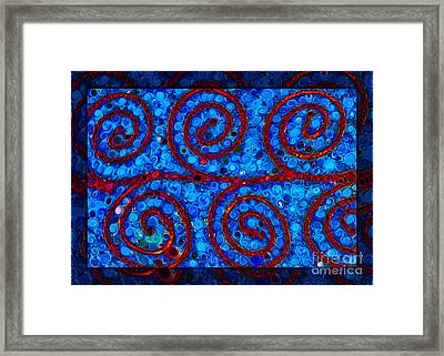 Soft Abstract Circles Framed Print by Omaste Witkowski