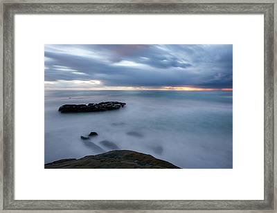 Soft And Blue Framed Print by Peter Tellone
