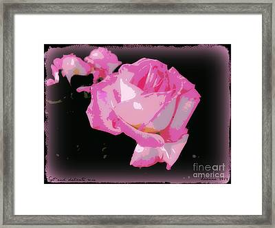Framed Print featuring the photograph Soft And Delicate Pink Rose by Leanne Seymour