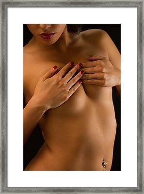Soft And Seductive Framed Print